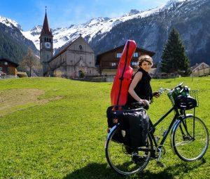 Celliste op de fiets - Ida Riegels