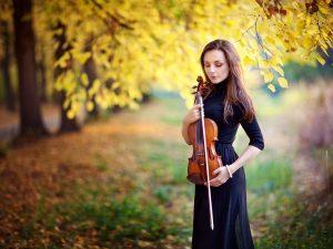 Vrouw met viool