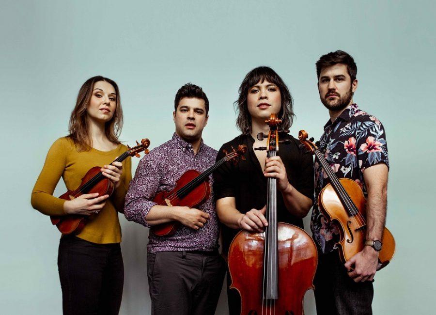 Attacca Quartet speelt op de Strijkkwartet Biënnale Amsterdam. Foto: David Goddard